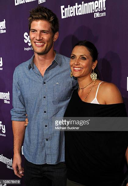 Actor Ryan McPartlin and Danielle Kirlin attend the EW and SyFy party during ComicCon 2010 at Hotel Solamar on July 24 2010 in San Diego California