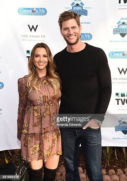 Actor Ryan McPartlin and Danielle McPartlin arrive at the VIP celebrity cocktail reception for the 10th Annual Jim Mora Celebrity Golf Classic For...