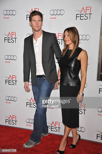 Actor Ryan McPartlin and wife Danielle arrive at the opening night AFI FEST 2011 gala world premiere of 'J Edgar' held at Grauman's Chinese Theatre...