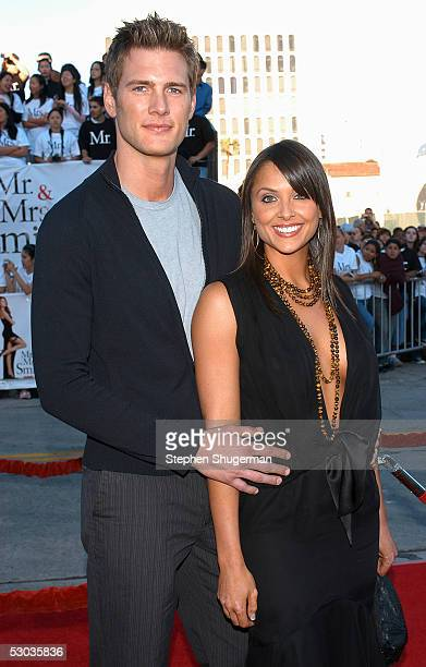 Actor Ryan McPartlin and wife Danielle Kirlin arrives at the premiere of Mr and Mrs Smith at the Mann Village Theater on June 7 2005 in Westwood...