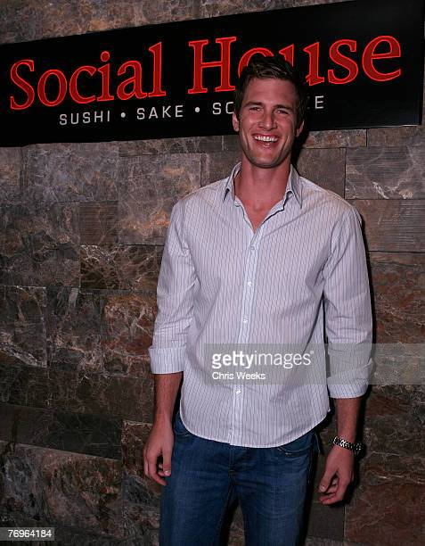 Actor Ryan McPartlin arrives at Social House prior to attending NBC's CHUCK premiere party at PURE Nightclub on September 22 2007 in Las Vegas Nevada