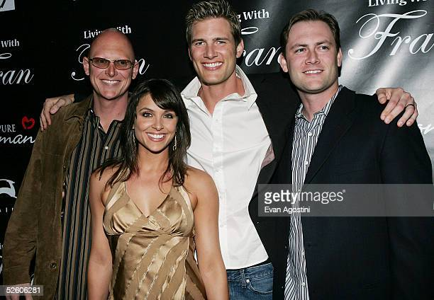 Actor Ryan McPartlin with his brothers Chris and Scott and wife Danielle at a party for the premiere the new TV series Living With Fran sponsored by...