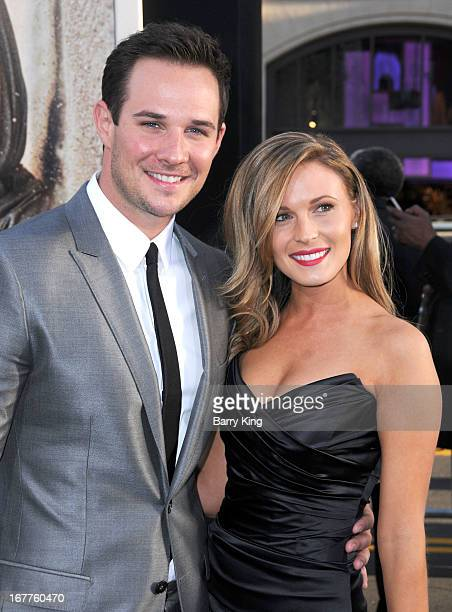 Actor Ryan Merriman and actress Kristen McMullen arrive at the Los Angeles premiere of '42' held at TCL Chinese Thetre on Aprilo 9 2013 in Hollywood...