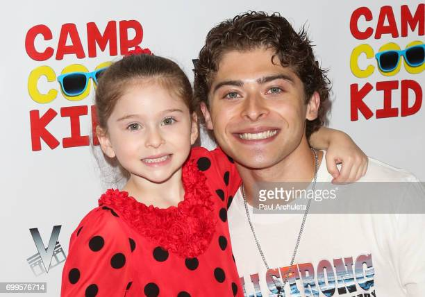 Actor Ryan Ochoa and his Sister Destiny Ochoa attend the premiere of 'Camp Cool Kids' at The AMC Universal City Walk on June 21 2017 in Universal...