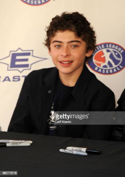 """Actor Ryan Ochoa signs autographs during the Los Angeles premiere of """"The Perfect Game"""" pre-event in the Pacific Theaters at the Grove on April 5,..."""