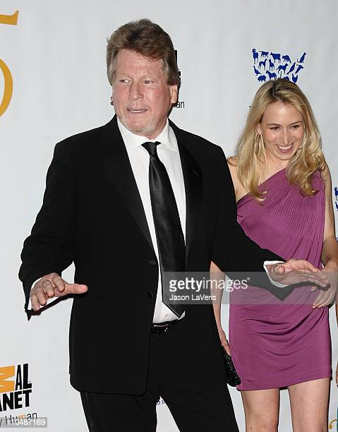 Actor Ryan O'Neal and Megan Blake attend the Humane Society's 25th annual Genesis Awards at the Hyatt Regency Century Plaza on March 19 2011 in...