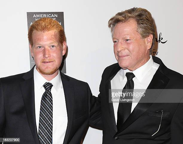 Actor Ryan O'Neal and son Redmond O'Neal attend the 3rd Annual American Humane Association Hero Dog Awards at The Beverly Hilton Hotel on October 5...