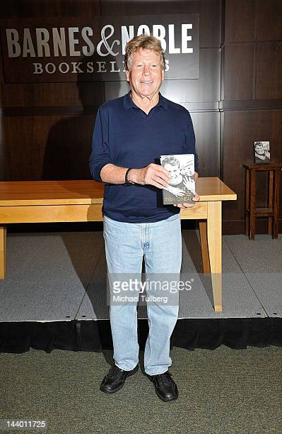 Actor Ryan O'Neal attends a signing for his new book 'Both Of Us' at Barnes Noble bookstore at The Grove on May 7 2012 in Los Angeles California