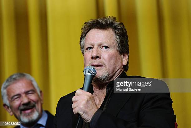 Actor Ryan O'Neal attends the 'Paper Moon' Screening at the Camelot Theatre during the 22nd Annual Palm Springs International Film Festival on...