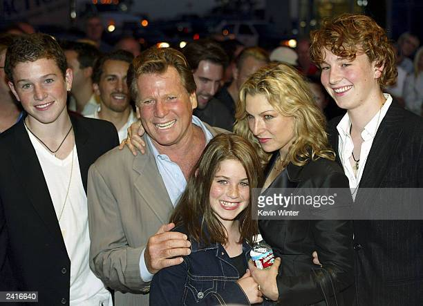 Actor Ryan O'Neal his daughter actress Tatum O'Neal and her children Sean Emily and Kevin McEnroe arrive at the 30th anniversary screening of Paper...