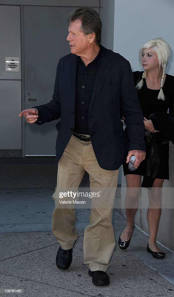 Actor Ryan O'Neal leaves the courthouse after his son Redmon O'Neal Sentencing on October 7, 2011 in Los Angeles, California.