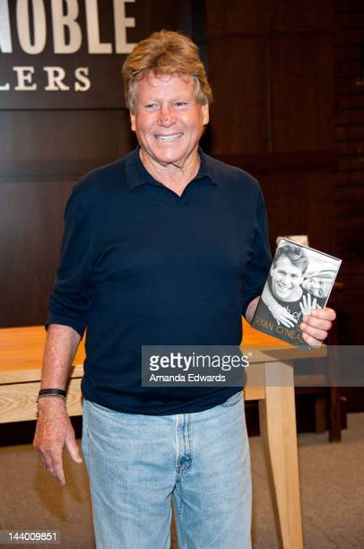 Actor Ryan O'Neal poses before signing copies of his new book Both Of Us at Barnes Noble bookstore at The Grove on May 7 2012 in Los Angeles...