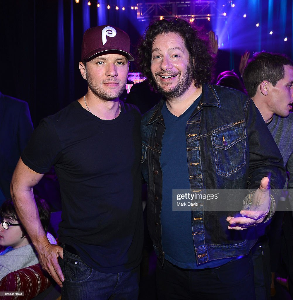Actor Ryan Phillippe and comedian Jeffrey Ross attend 'The Big Live Comedy Show' presented by YouTube Comedy Week held at Culver Studios on May 19, 2013 in Culver City, California.