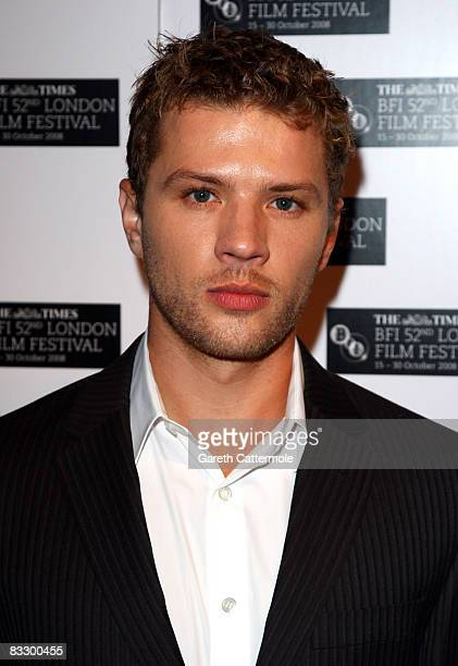 Actor Ryan Phillippe arrives at the World Premiere of 'Franklyn' during the BFI 52nd London Film Festival at Odeon West End on October 16 2008 in...