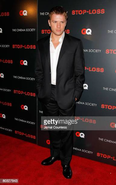 Actor Ryan Phillippe attends the New York Premiere screening of StopLoss hosted by The Cinema Society and GQ at the IFC Center on March 20 2008 in...