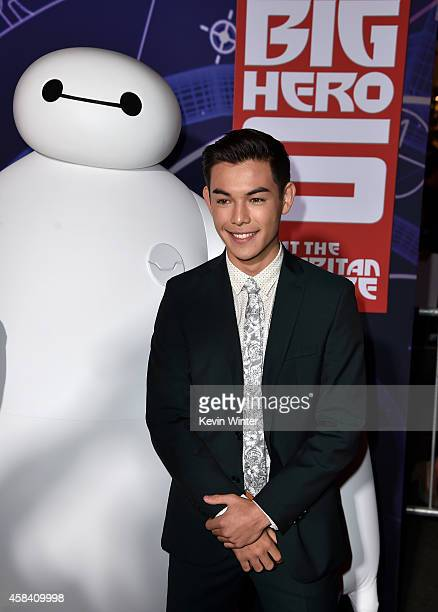 Actor Ryan Potter attends the premiere of Disney's Big Hero 6 at the El Capitan Theatre on November 4 2014 in Hollywood California