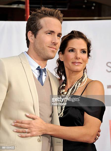 Actor Ryan Reynolds and actress Sandra Bullock arrive to the premiere of Touchstone Pictures' The Proposal held at the El Capitan Theatre on June 1...