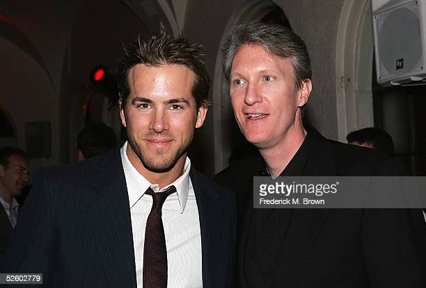 Actor Ryan Reynolds and Executive Chris McGurk attend the after party for film premiere of The Amityville Horror at the Hollywood Athletic Club on...