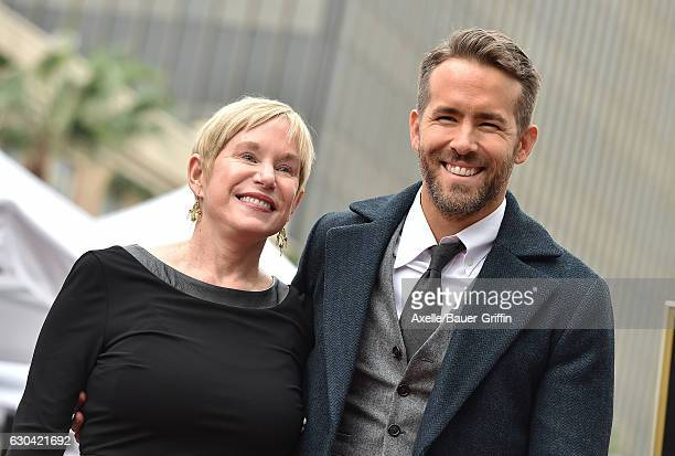Actor Ryan Reynolds and mom Tammy Reynolds attend the ceremony honoring Ryan Reynolds with a Star on the Hollywood Walk of Fame on December 15 2016...