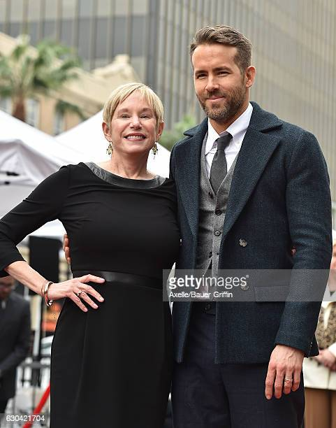 Actor Ryan Reynolds and mom Tammy Reynolds attend the ceremony honoring Ryan Reynolds with a Star on the Hollywood Walk of Fame on December 15, 2016...