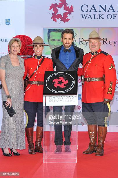 Actor Ryan Reynolds and mother Tammy Reynolds attend the 2014 Canada's Walk Of Fame Awards at the Sony Centre on October 18, 2014 in Toronto, Canada.