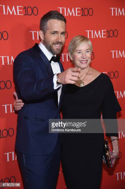 Actor Ryan Reynolds and Tammy Reynolds attend the 2017 Time 100 Gala at Jazz at Lincoln Center on April 25, 2017 in New York City.