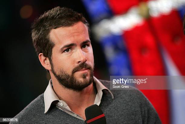 Actor Ryan Reynolds appears onstage during MTV's Total Request Live at the MTV Times Square Studios on November 17 2005 in New York City