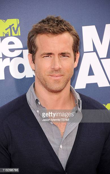 Actor Ryan Reynolds arrives at the 2011 MTV Movie Awards at Universal Studios' Gibson Amphitheatre on June 5 2011 in Universal City California
