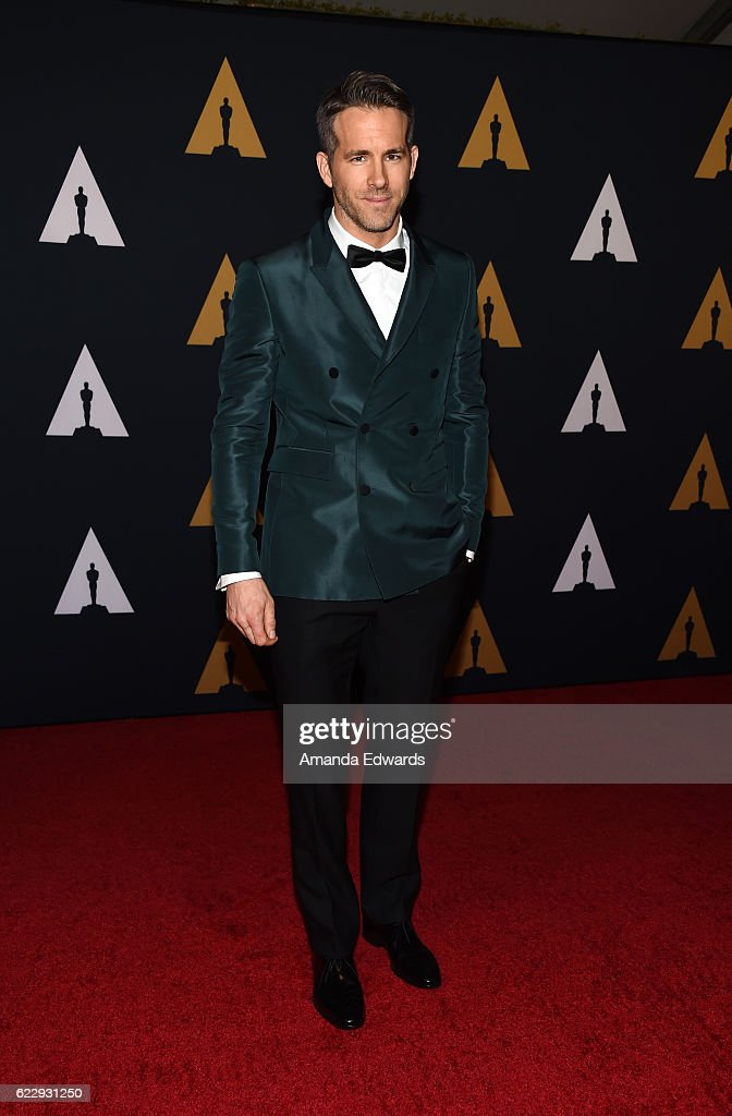 Actor Ryan Reynolds arrives at the Academy of Motion Picture Arts and Sciences' 8th Annual Governors Awards at The Ray Dolby Ballroom at Hollywood & Highland Center on November 12, 2016 in Hollywood, California.