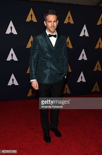 Actor Ryan Reynolds arrives at the Academy of Motion Picture Arts and Sciences' 8th Annual Governors Awards at The Ray Dolby Ballroom at Hollywood...