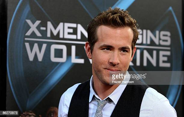 """Actor Ryan Reynolds arrives at the Screening Of 20th Century Fox's """"X-Men Origins: Wolverine"""" on April 28, 2009 at the Gruman's Manns Chinese Theater..."""