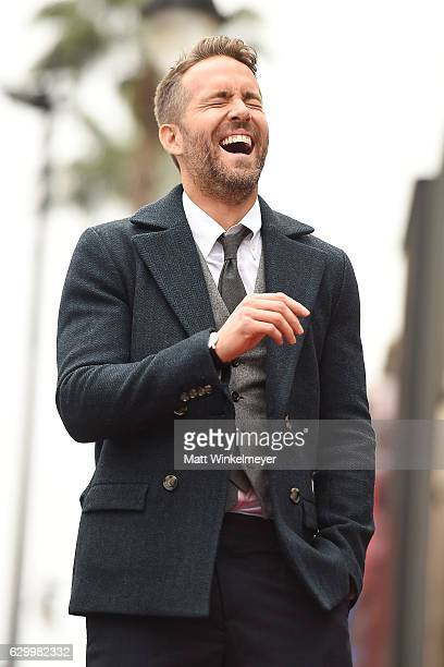 Actor Ryan Reynolds attends a ceremony honoring him with a star on the Hollywood Walk of Fame on December 15 2016 in Hollywood California