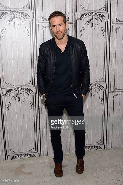 Actor Ryan Reynolds attends AOL Build Presents SELF/LESS at AOL Studios In New York on July 6 2015 in New York City