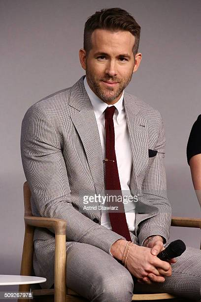 Actor Ryan Reynolds attends Apple Store Soho Presents Meet The Actor Ryan Reynolds Morena Baccarin TJ Miller and Ed Skrein 'Deadpool' at Apple Store...
