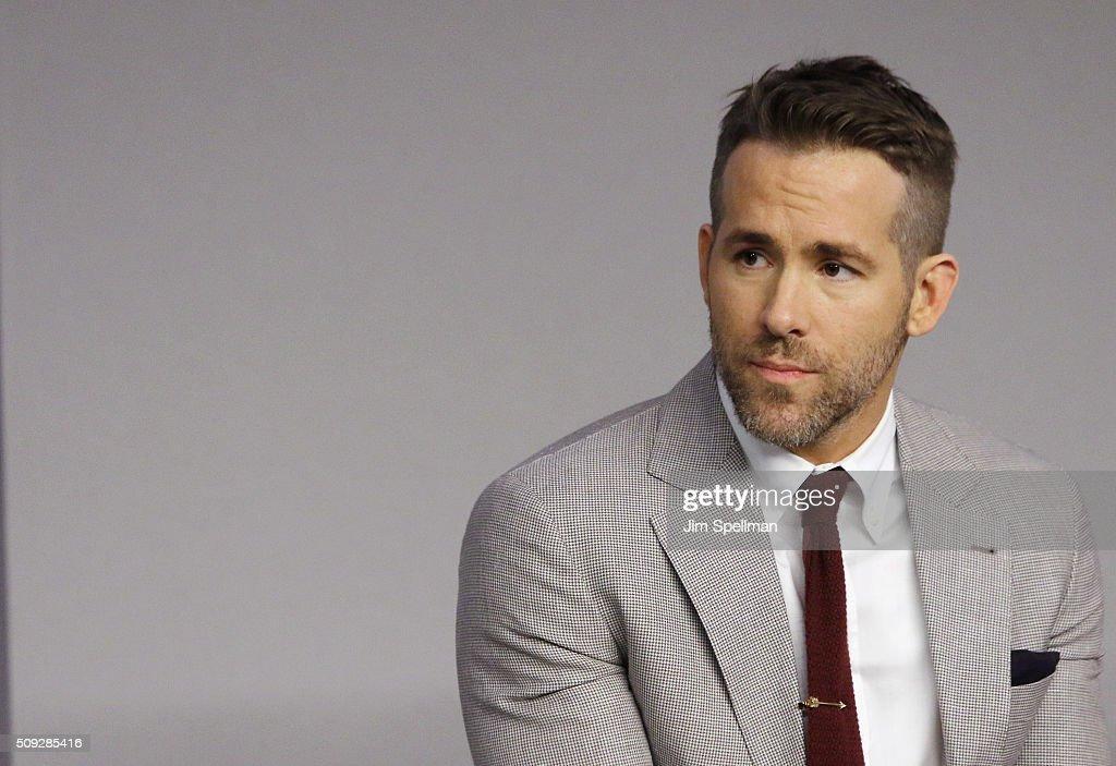 "Apple Store Soho Presents Meet The Actor: Ryan Reynolds, Morena Baccarin, TJ Miller, and Ed Skrein, ""Deadpool"" : News Photo"