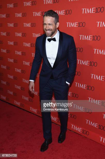Actor Ryan Reynolds attends the 2017 Time 100 Gala at Jazz at Lincoln Center on April 25 2017 in New York City
