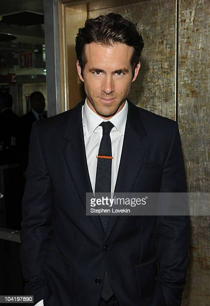 Actor Ryan Reynolds attends the after party following a special screening of Buried hosted by The Cinema Society and 2ist at the Soho Grand Hotel on...