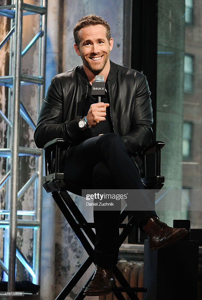 Actor Ryan Reynolds attends the AOL Build Presents: 'Selfless' at AOL Studios In New York on July 6, 2015 in New York City.