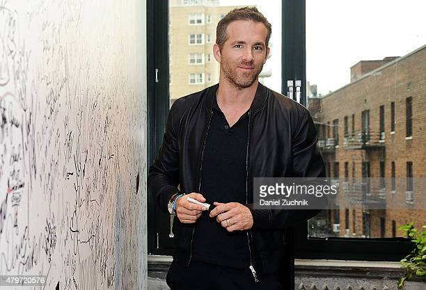 Actor Ryan Reynolds attends the AOL Build Presents 'Selfless' at AOL Studios In New York on July 6 2015 in New York City