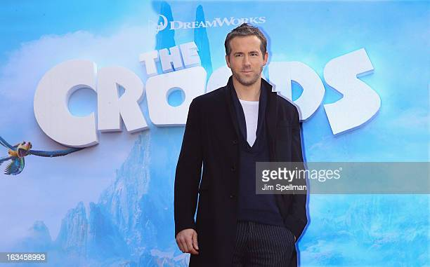Actor Ryan Reynolds attends The Croods premiere at AMC Loews Lincoln Square 13 theater on March 10 2013 in New York City