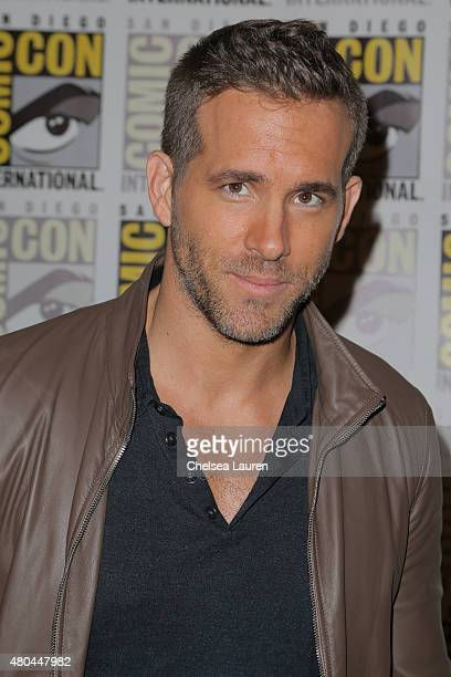 Actor Ryan Reynolds attends the 'Deadpool' press room on July 11 2015 in San Diego California