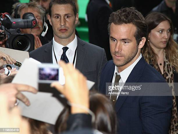 Actor Ryan Reynolds attends the 'Green Lantern' Germany Premiere at CineStar on July 25 2011 in Berlin Germany