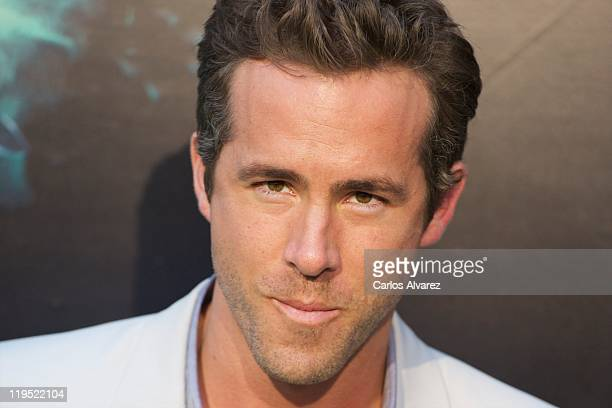 Actor Ryan Reynolds attends the Green Lantern premiere at the Capitol cinema on July 21 2011 in Madrid Spain
