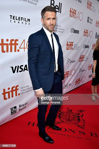 Actor Ryan Reynolds attends the 'Mississippi Grind' premiere during the 2015 Toronto International Film Festival at Roy Thomson Hall on September 16...