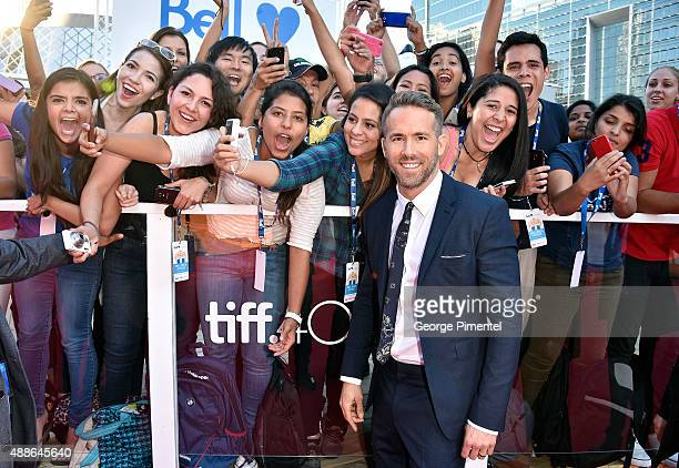 Actor Ryan Reynolds attends the Mississippi Grind premiere during the 2015 Toronto International Film Festival at Roy Thomson Hall on September 16...
