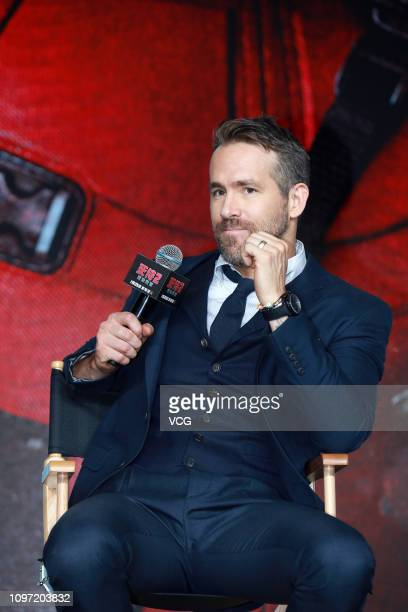 Actor Ryan Reynolds attends the premiere of 'Deadpool 2' at Park Hyatt Hotel on January 20 2019 in Beijing China