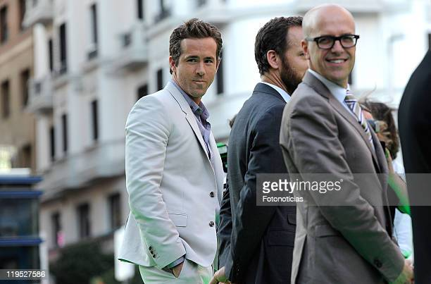 Actor Ryan Reynolds attends the premiere of Green Lantern at Callao Cinema on July 21 2011 in Madrid Spain