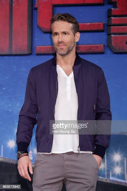 Actor Ryan Reynolds attends the press conference for Seoul premiere of 'Deadpool 2' on May 2 2018 in Seoul South Korea The film will open on May 16...