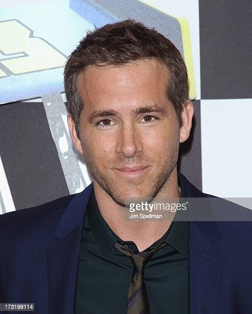 """Actor Ryan Reynolds attends the """"Turbo"""" New York Premiere at AMC Loews Lincoln Square on July 9, 2013 in New York City."""