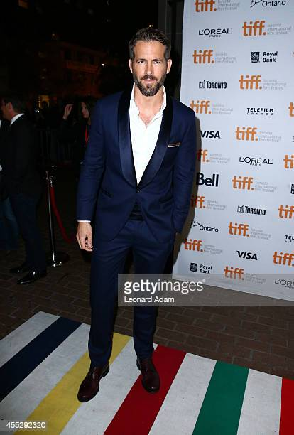 Actor Ryan Reynolds attends The Voices premiere during the 2014 Toronto International Film Festival at Ryerson Theatre on September 11 2014 in...